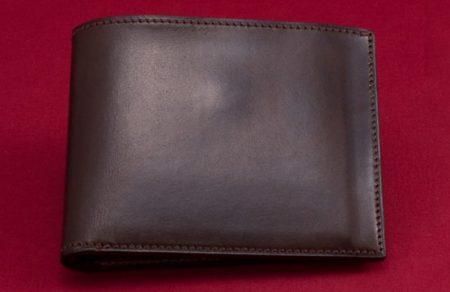 万双(マンソウ)双鞣和地 二つ折り財布(小銭入付)