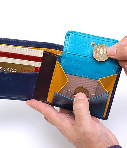 本皮二つ折り財布