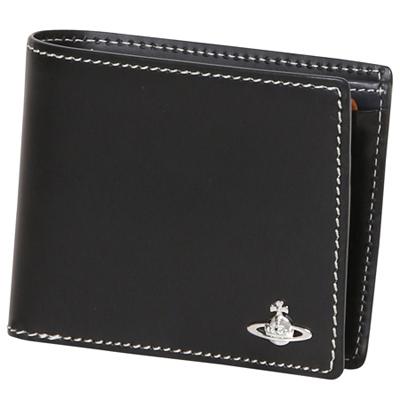 コントラストステッチ 二つ折り財布
