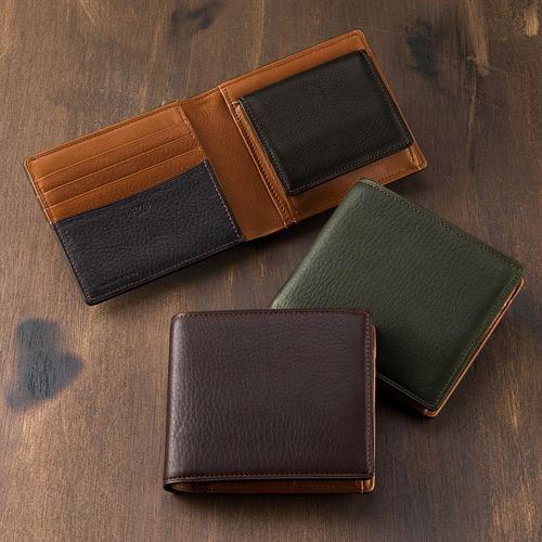 二つ折り財布(BOX小銭入れ付き札入)■シルキーキップ