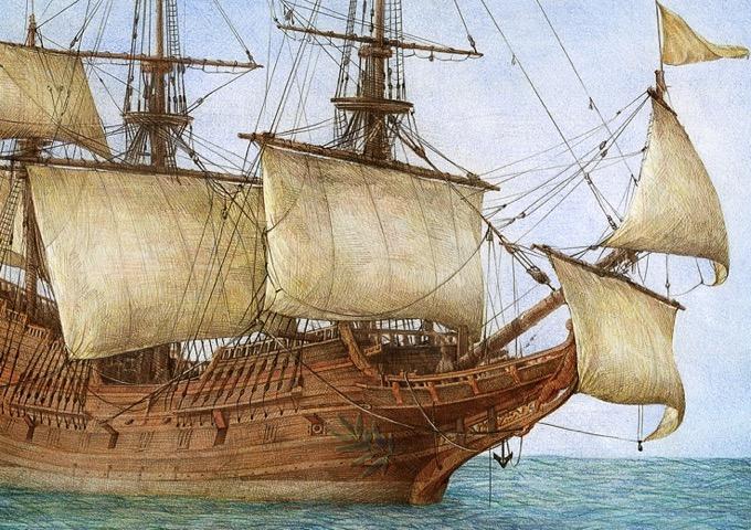、大航海への旅、とか、男たちの夢、冒険、ロマンのような世界観