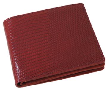 二つ折り財布【送料無料】リアルリザード 二つ折り財布 Bill Holder 92-20000