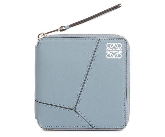 LOEWE(ロエベ)Puzzle Small Wallet stone blue