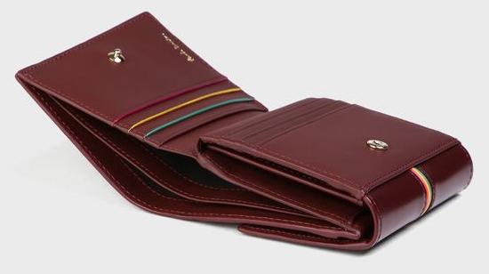 ストライプエッジ 3つ折り財布