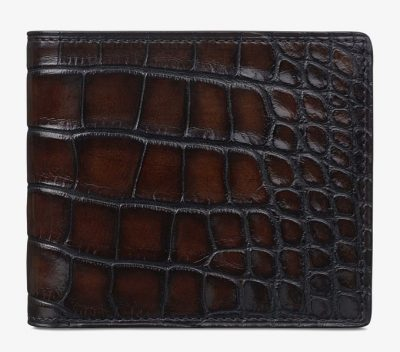Berluti(ベルルッティ)Makore Alligator Leather Compact Wallet