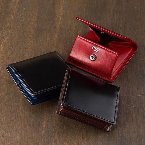 小銭入れ(BOX型)■オイルシェルコードバン&シラサギレザー