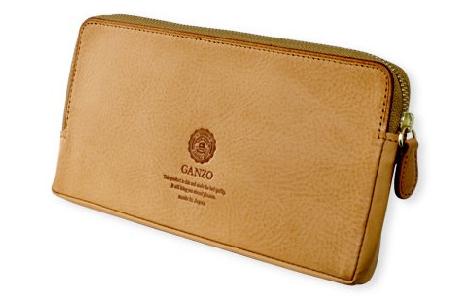 GANZO(ガンゾ)Minerva Natural (ミネルバナチュラル)ファスナー長財布