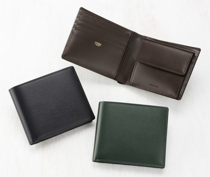 CYPRIS(キプリス)二つ折り財布(小銭入れ付き札入)■ボックスカーフ ~ポトフィール~