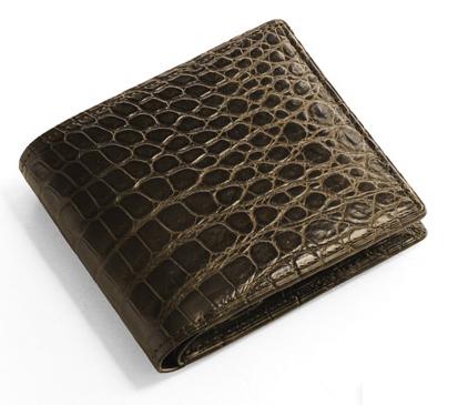 日本製 ナイル クロコダイル 折り財布 無双 マット仕上げ / メンズ財布