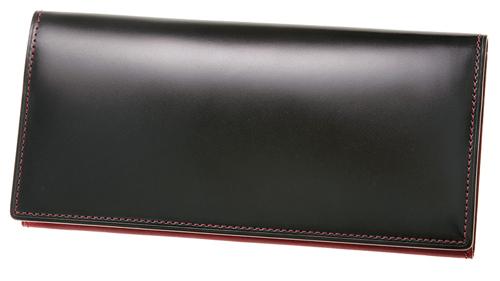 長財布(小銭入れ付きササマチ束入)■オイルシェルコードバン&シラサギレザー