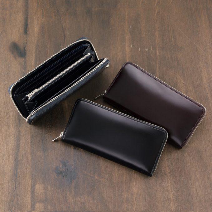 長財布(ラウンドファスナー束入)■オイルシェルコードバン ~アンフィニ~