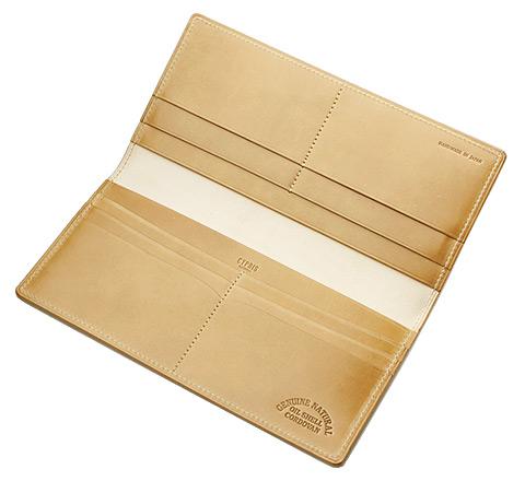 長財布(マチなし束入)■ナチュラルコードバン