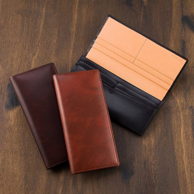 長財布(ササマチ束入・小銭入れなし)■シラサギレザー