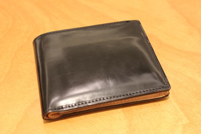 2年のエイジングしたコードバンの財布