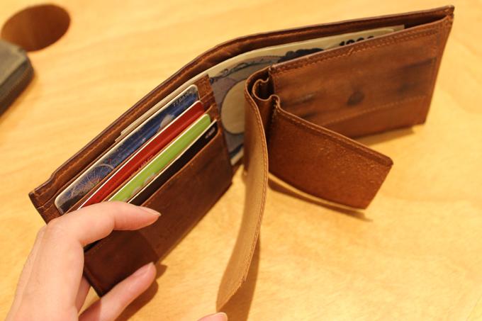 実はこの財布、意外と入るんです