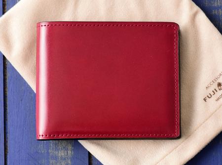 二つ折り財布(純札) コードバン カード段6 ジェメ財布 No.647602