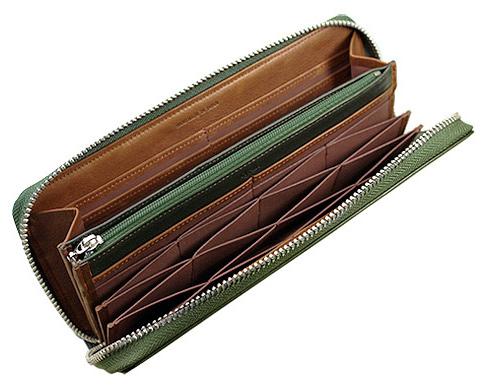 ハニーセル長財布(ラウンドファスナー束入)■シルキーキップ