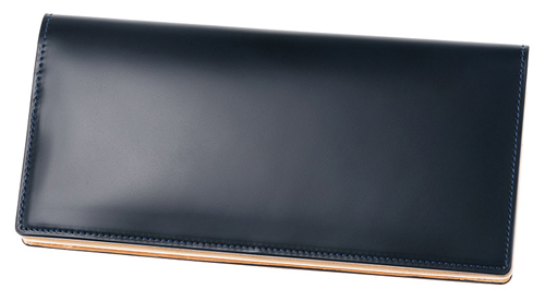 長財布(小銭入れ付き通しマチ束入)■新コードバン&ベジタブルタンニン