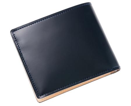 二つ折り財布(ベロ・小銭付札入)■新コードバン&ベジタブルタンニン