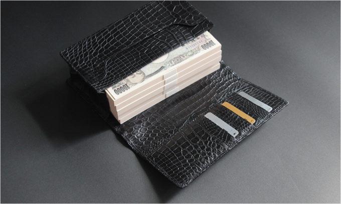 【ナイルクロコダイル】 500万円用 長財布 本無双仕立て lgw005