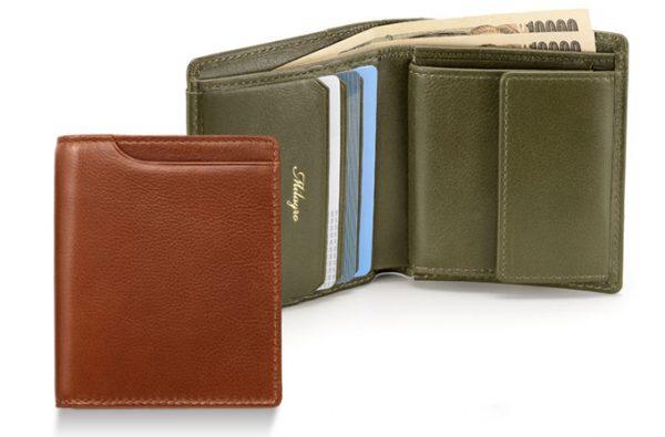 Milagro(ミラグロ)アニリンカーフスリム二つ折り財布