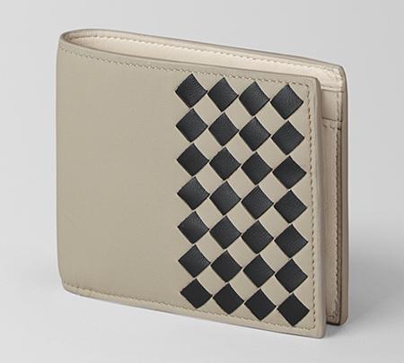 セメント ネロ ミスト イントレチャート チェッカー ナッパ コインケース付き二つ折りウォレット