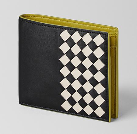 ネロ ミスト カモミール イントレチャート チェッカー ナッパ コインケース付き二つ折りウォレット