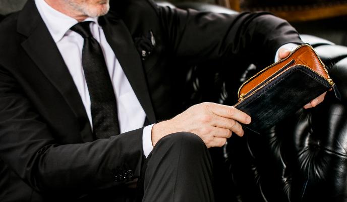 紳士が持つのに相応しい長財布