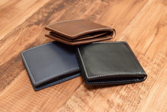牛革 二つ折り財布