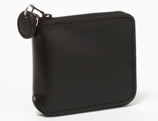 ジップ付二つ折り財布