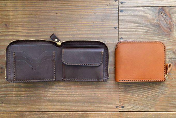 ラウンドファスナー二つ折り財布(GS-48)