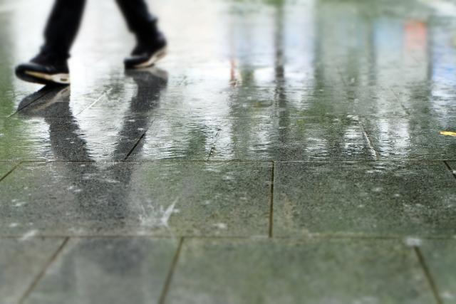 ブライドルレザーが雨(水)に濡れたら?
