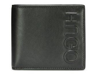 Reverse-logo wallet in leather