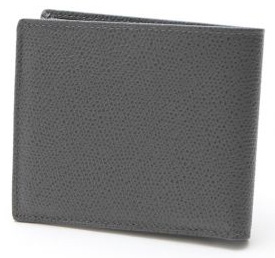 カーフ 2つ折り財布 グレー