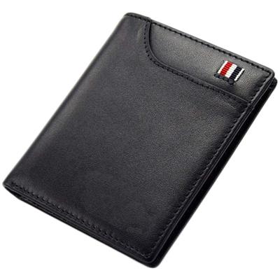 MYUM 二つ折り財布 メンズ 小銭入れなし 薄型 コンパクト 本革 ギフトボックス付き