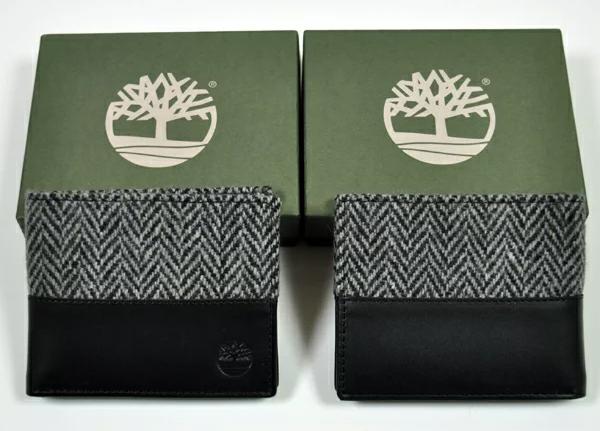 ハリスツイード ファブリック 2つ折サイフ(財布)A1BHQ wallet
