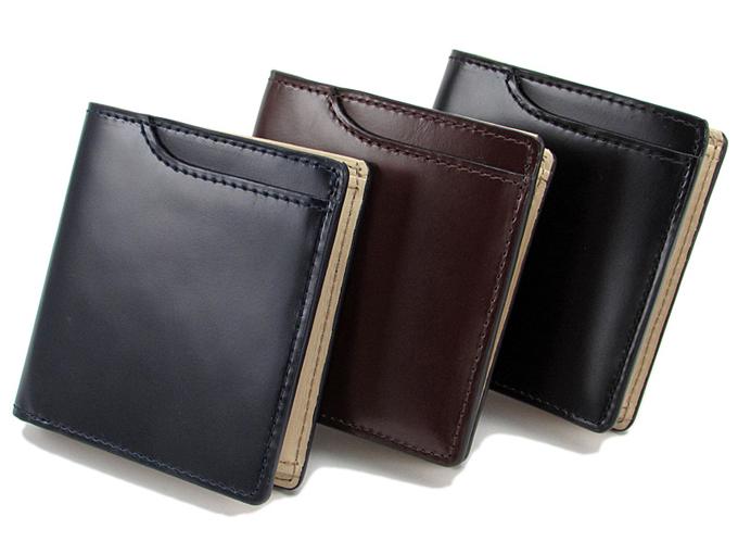 表ポケット付き2つ折り財布