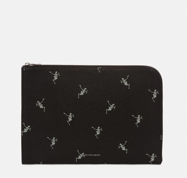 """DANCING SKELETON"" HALF-ZIP POUCH"