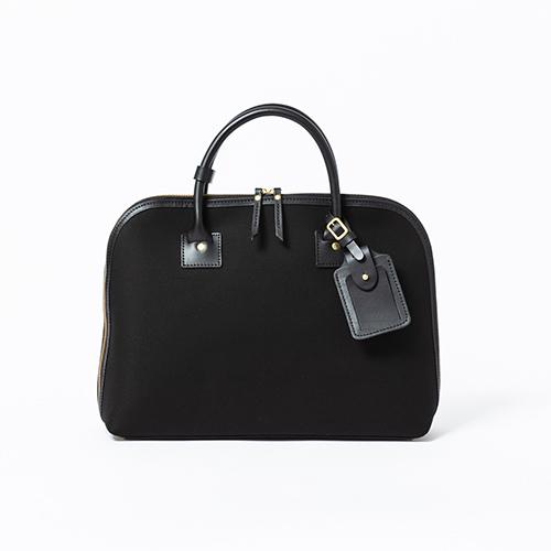 Cotton serge- Round Briefcase -