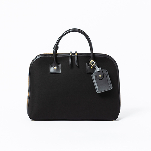 Cotton serge- Round Briefcase -